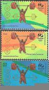 BRAZIL 2015 Olimpic Sport Games Rio 2016 Weightlifting Halterofilismo - Unused Stamps