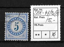 NACHPORTOMARKEN → SBK-4II Type 2 (normalstehend) - Portomarken