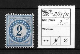 NACHPORTOMARKEN → SBK-2 Type 1 * (kopfstehend) - Taxe