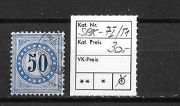NACHPORTOMARKEN → SBK-7I  Type 1  (normalstehend) - Portomarken