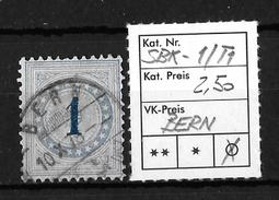 NACHPORTOMARKEN → SBK-1  Type 1  (normalstehend) BERN - Portomarken