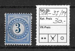 NACHPORTOMARKEN → SBK-3I  Type 1 * (normalstehend) - Portomarken