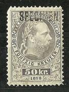 Österreich Austria 1873 Keiser Franz Joseph Telegraphenmarken 50 Kr. Muster Specimen * - Telegraphenmarken