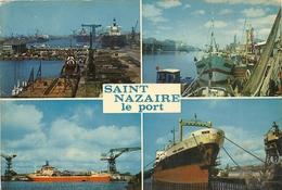 44      SAINT  NAZAIRE   VUE  D  ENSEMBLE DU PORT LE PORT DE PECHE  BATEAU A QUAI  ET DANS LA FORME DES CHANTIERS - Saint Nazaire