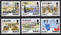 GB JERSEY - 1994 D-DAY ANNIVERSARY SET (6V) SG 659-664 FINE MNH ** - Jersey