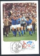 Spain 1982 Maximum Card: Football Fussball Soccer Calcio; Fifa World Cup Mundial Final Italia World Champion - Germany - 1982 – Spain