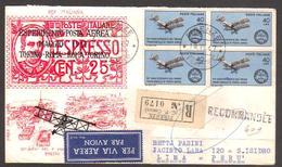 1967 - 50° Primo Francobollo Di Posta Aerea - Raccomandata Firenze-Lima (Perù) - FDC