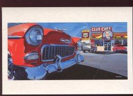 CPM Neuve Etats Unis SANTA ROSA Old Club Café Route 66 Voiture Américaine - Etats-Unis