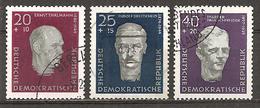 *DDR 1957 // Michel 606/608 A O // Gedenkstätten - Oblitérés