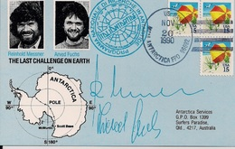 """1990 USA   Antartis- Karte    """" Programma Nazionale Die Richerche In Antartide """" - Research Stations"""