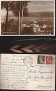 12395) MESSINA PANORAMA DEL PORTO VIAGGIATA 1940 - Messina