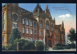 Cpa De Pologne Kattowitz , O.-S. Kgl Baugewerk-Schule   NCL82 - Polen