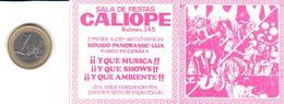 ETIQUETA   - SALA DE FIESTAS CALIOPE  -BARCELONA - Publicidad