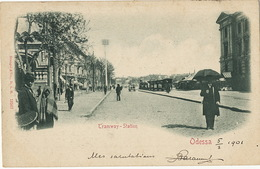 Odessa  Tramway Station Edit Stengel 12567 Timbrée 1901 Vers Hesdin Postcard Club Wawel - Ukraine