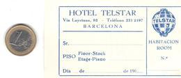 ETIQUETA   -HOTEL TELSTAR  -BARCELONA - Publicidad