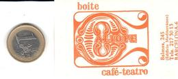 ETIQUETA   - BOITE CAFE TEATRO CALIOPE - BARCELONA - Publicidad