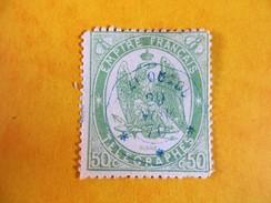Timbre Télégraphe N°6 - 50c Vert - Oblitéré TIZI  OUZOU (Algérie) Le 29 Novembre 1870 - Algeria (1924-1962)