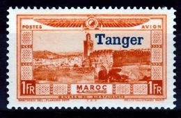 "French Morocco, Fez, 1f., Overprint ""TANGER"" 1928, MH VF, Airmail - Marruecos (1891-1956)"