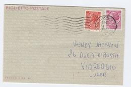 1968 Milan ITALY UPRATED Postal STATIONERY LETTERSHEET  To Viareggio Cover - 6. 1946-.. Republic