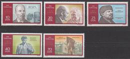 DDR / Geburrtstag Von Wladimir Iljitsch Lenin / MiNr. 1557-1561 - Unused Stamps