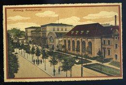 Cpa De Pologne Kattowitz , Bahnhofstrasse NCL82 - Pologne