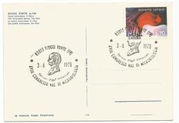 Y3569 Fiuggi (Frosinone) - XVIII Congresso Nazionale Di Microbiologia 1978 - Fonte Anticolana Annullo Timbro Filatelico - Altre Città