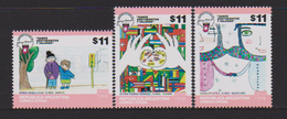 ARGENTINA, 2017, MNH, JOINT ISSUE , UPAEP, CHILD ART, FLAGS,3v - Joint Issues
