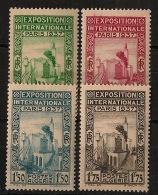 Algérie - 1937 - N°Yv. 127 à 130 - Série Complète - Neuf Luxe ** / MNH / Postfrisch - Neufs
