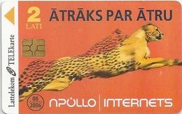 Latvia - Lattelecom - Apollo Cheetah - 2005, 50.000ex, Used - Latvia