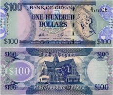 GUYANA       100 Dollars       P-36b       ND (2010)       UNC - Guyana