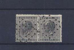N°17A IN PAAR GESTEMPELD L149 Gilly COB € 7,00 + COBA € 4,00 SUPERBE - 1865-1866 Profil Gauche