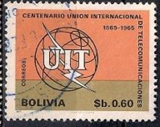 (A) Bolivia 1968 - The 100th Anniversary Of The ITU, 1965 Used - Bolivia