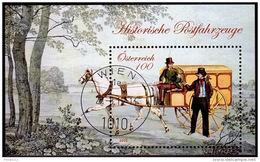 AUSTRIA ÖSTERREICH 2015  Historische Postfahrzeuge (III)  USED/O/ GESTEMPELT - Blocks & Sheetlets & Panes
