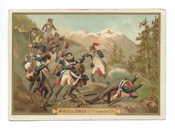 Chromo Militaria Bataille De ZURICH 1798 Bien 123 X 86 Mm 2 Scans - Other