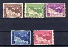 1927  Belgique « Barquette », 249 / 253 **, Cote 16 €, - Unused Stamps