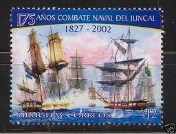 Juncal Ship Battle Sailboat Vessel Warfare Cannon URUGUAY Sc#1989 MNH STAMP Cv$2 - Boten