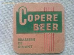 Posavasos Cerveza Copere Beer. Brasserie De Dinant. Francia. Años ´70. - Portavasos