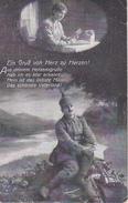 AK Deutscher Soldat Mit Frau - Ein Gruß Von Herz Zu Herzen - Patriotika - Feldpost 1917 (29134) - Guerre 1914-18