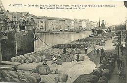 Sète Débarquement Tonneaux De Vin - Sete (Cette)
