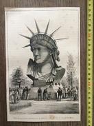 ENV 1890 PARIS TETE DE LA STATUE COLOSSALE DE LA LIBERTE DANS LE PARC DU CHAMP DE MARS DE BARTHOLDI - Vieux Papiers