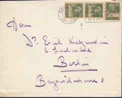 SCHWEIZ 203 MeF Auf Auslandsbrief Mit Stempel: Genf 12.III.1927, Tell - Cartas