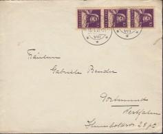 SCHWEIZ 204 X MeF Auf Auslandsbrief Mit Stempel: Frauenfeld 15.1.1931, Tell - Cartas