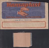 Hansaplast Von Beiersdorf, Hamburg, Uralte Tüte Mit Pflaster - Publicité