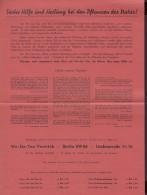 WerbeBlatt Für We-Ge-Tee, Berlin, 1937 - Werbung