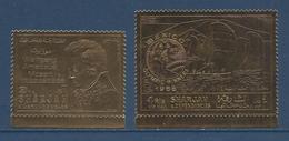 Sharjah -  ( Timbre Sur Feuille D'or ) - Bord De Feuille - Luxe - Stamps