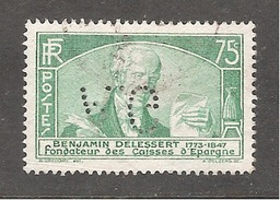 Perfin/perforé/lochung France No 303 A.G Département Etranger Hachette - France