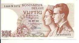 BELGIQUE 50 FRANCS 1966 XF+ P 139 - [ 2] 1831-... : Belgian Kingdom