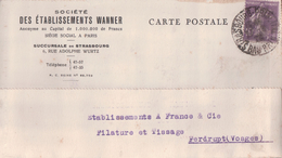 Société DES ETABLISSEMENTS WANNER 6, Rue Adolphe Wurtz STRASBOURG (1928) - Strasbourg