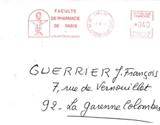 Faculté Pharmacie Paris 1969 -  Santé Health - EMA ( Maquina De Huellas A Franquear)