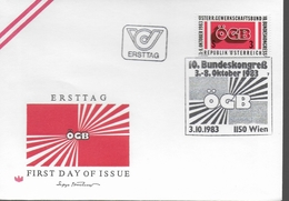 AUTRICHE   FDC  1983 Syndicat - FDC